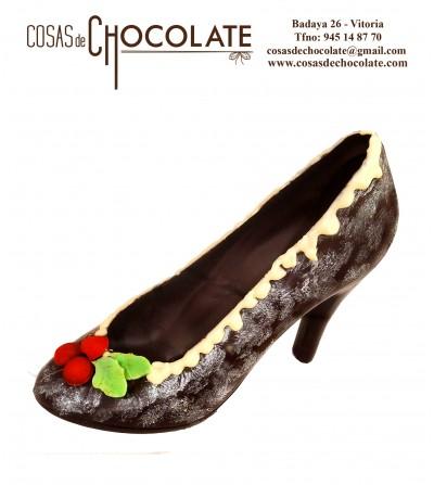 Zapato Navideño de chocolate