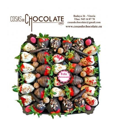 Fresas con chocolates