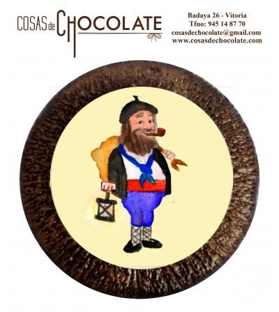 Olentzero en chocolate