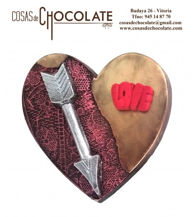 Corazón de chocolate negro...