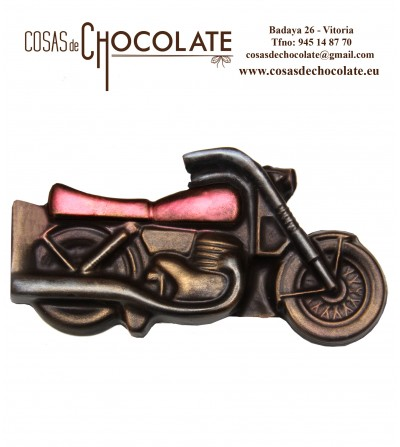 Moto en relieve de chocolate