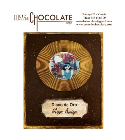Disco de Oro personalizable