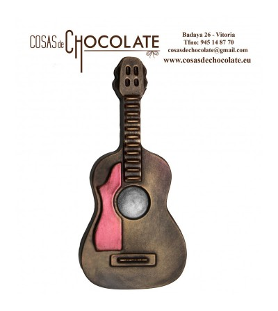 Guitarra clásica de chocolate