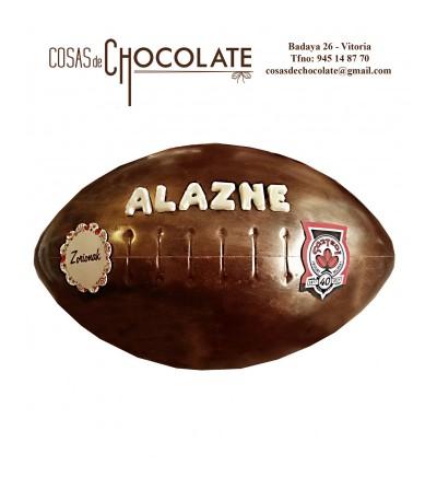 Balón de Rugby de chocolate