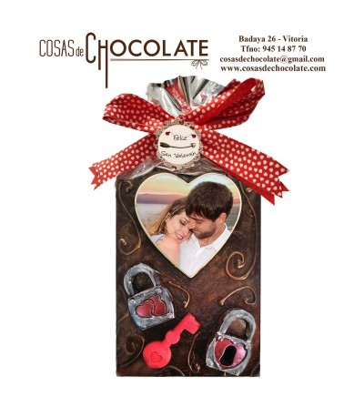 "Placa de chocolate ""amor..."