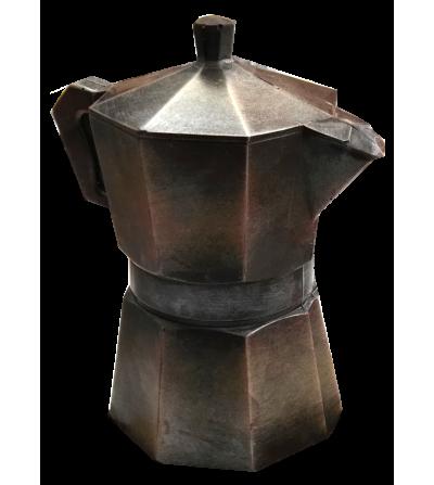 Cafetera de chocolate negro