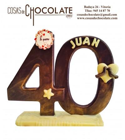 Números de chocolate sin foto
