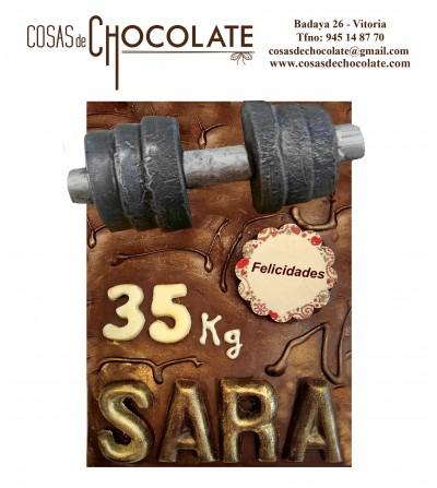 Pesas de chocolate